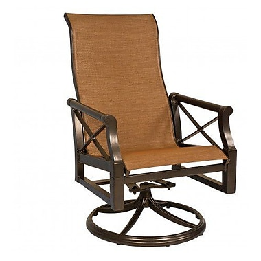 Woodard Andover Sling High-Back Swivel Rocking Chair; Tin Ceiling