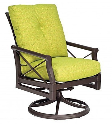 Woodard Andover Swivel Rocking Chair w/ Cushions; Fairmount