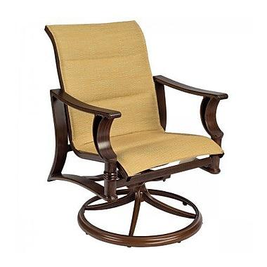 Woodard Arkadia Padded Sling Swivel Rocking Chair; Elegance