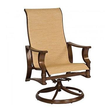 Woodard Arkadia Sling High-Back Swivel Rocking Chair; Tin Ceiling