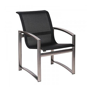 Woodard Metropolis Sling Patio Dining Chair; Caramel