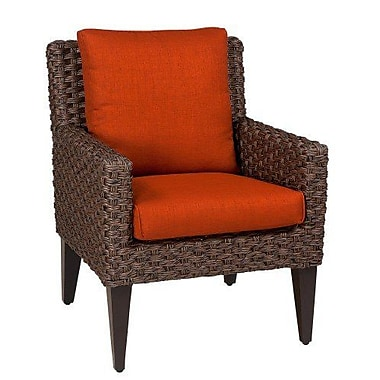 Woodard Mona Patio Dining Chair w/ Cushion; Canvas Iris