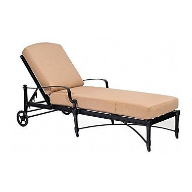 Woodard Isla Adjustable Chaise Lounge w/ Cushion; Canvas Parrot
