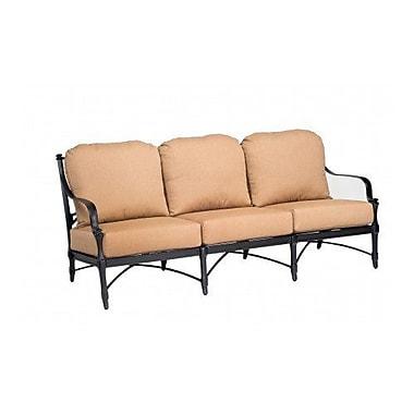 Woodard Isla Sofa w/ Cushions; Brisa Distressed Chamois