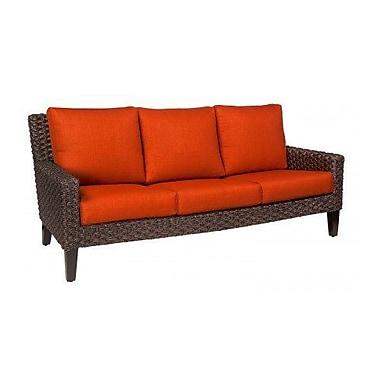Woodard Mona Sofa w/ Cushions; Brisa Distressed Chamois
