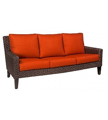 Woodard Mona Sofa w/ Cushions; Canvas Parrot