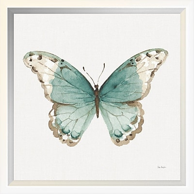 East Urban Home 'Colorful Breeze XII w/ Teal' Framed Print; 10'' H x 10'' W