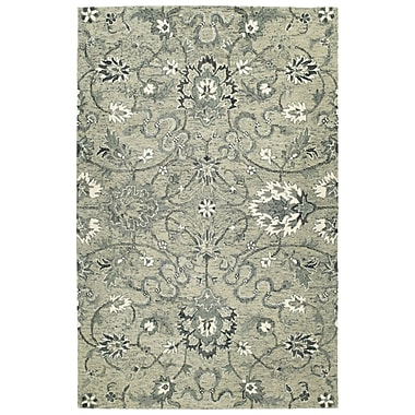 Bungalow Rose Toshiro Traditional Hand Tufted Wool Gray Area Rug; 5' x 7'9''