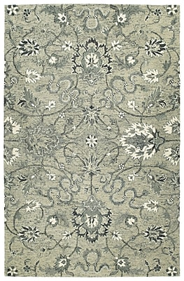 Bungalow Rose Toshiro Traditional Hand Tufted Wool Gray Area Rug; 4' x 6'