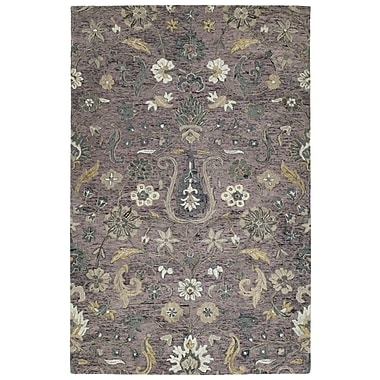 Bungalow Rose Toshiro Hand Tufted Wool Lilac Area Rug; 4' x 6'