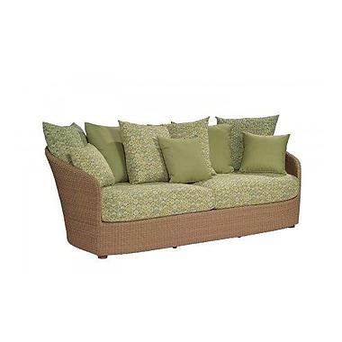 Woodard Oasis Sofa w/ Cushions; Bevel Indigo