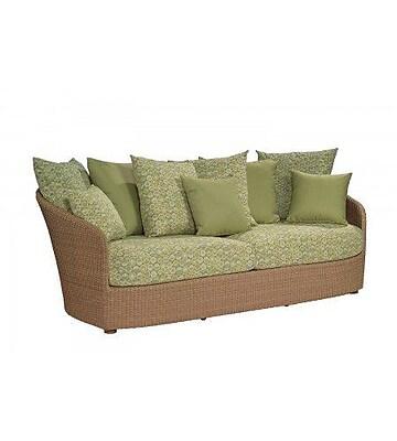 Woodard Oasis Sofa w/ Cushions; Summit Spark