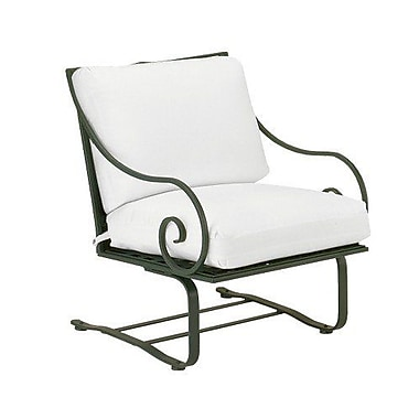 Woodard Sheffield Spring Patio Chair w/ Cushions; Brisa Distressed Dove Gray