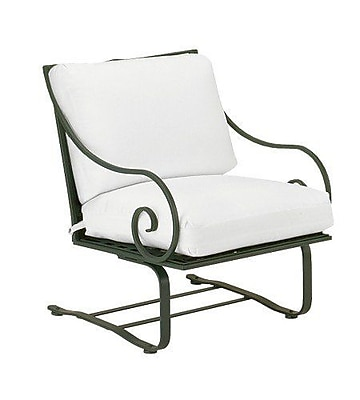 Woodard Sheffield Spring Patio Chair w/ Cushions; Paris Honeydew
