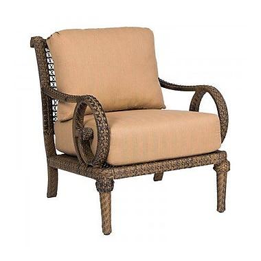 Woodard South Shore Patio Chair w/ Cushions; Bevel Indigo
