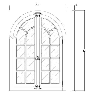 Bramble Co Roosevelt Regency Accent Mirror w/ Doors