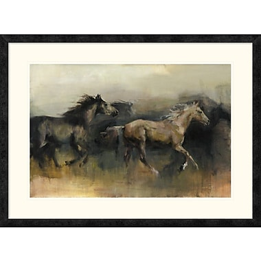 East Urban Home 'Roaming the West' Framed Print; 20'' H x 30'' W