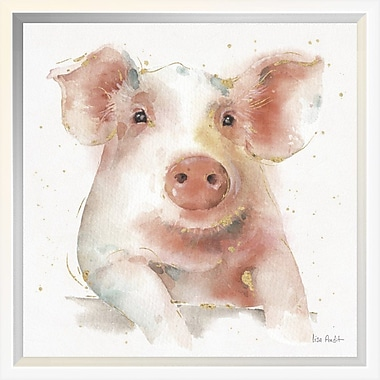 East Urban Home 'Farm Friends III' Framed Print; 12'' H x 12'' W