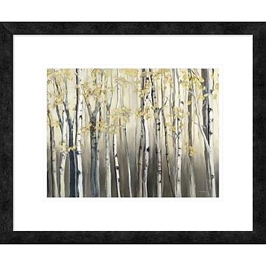 East Urban Home 'Golden Birch III' Framed Print; 12'' H x 16'' W