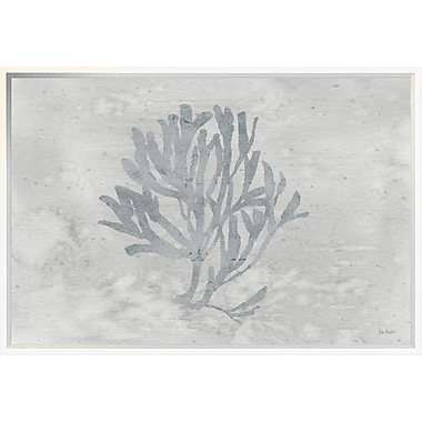 East Urban Home 'Silver and Gray Water Coral III' Framed Print; 20'' H x 30'' W