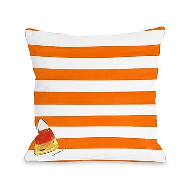 The Holiday Aisle Halloween Trick or Treat Candy Throw Pillow; 18'' x 18''