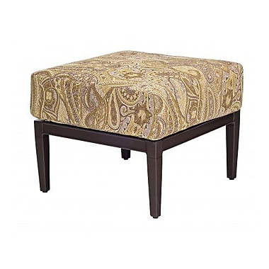Woodard Andover Ottoman w/ Cushion; Paris Blush