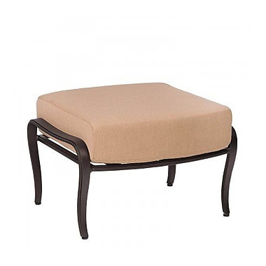 Woodard Apollo Ottoman w/ Cushion; Canvas Heather Beige