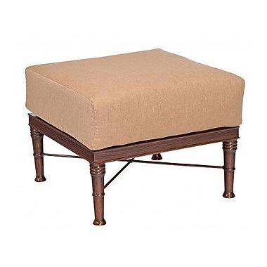 Woodard Arkadia Ottoman w/ Cushion; Brisa Distressed Charcoal