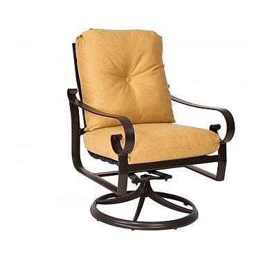 Woodard Belden Swivel Rocking Chair w/ Cushions; Summit Peony