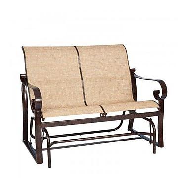 Woodard Belden Sling Glider Bench; Elegance