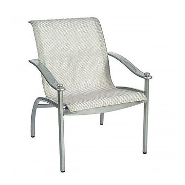 Woodard Nob Hill Sling Patio Dining Chair; Augustine Gravel