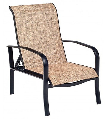 Woodard Fremont Sling Adjustable Patio Chair; Tin Ceiling