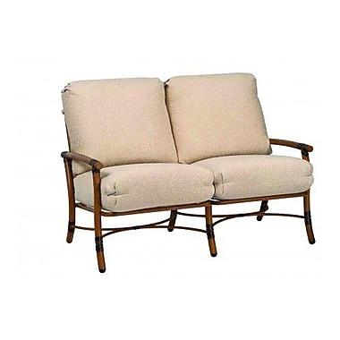 Woodard Glade Isle Loveseat w/ Cushions; Canvas Palm