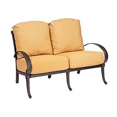 Woodard Holland Loveseat w/ Cushions; Bazaar Caf