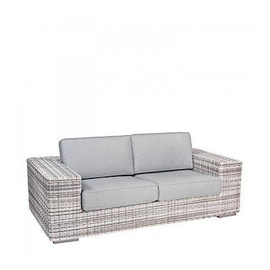 Woodard Imprint Loveseat w/ Cushions; Brisa Distressed Chamois