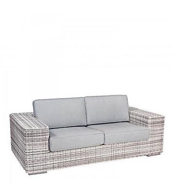 Woodard Imprint Loveseat w/ Cushions; Bazaar Caf