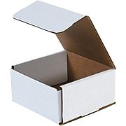 "5 x 5 x 3"" Corrugated Mailer, White, 50/Pack (BSM553)"