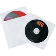 "4 7/8"" x 5"" Tyvek® Windowed CD Sleeves, 500/Case"