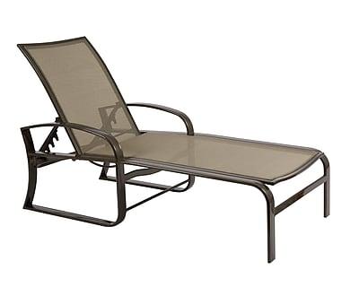 Woodard Cayman Isle Flex Adjustable Chaise Lounge; Paris Honeydew
