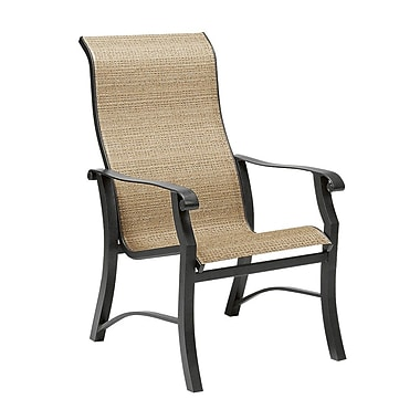 Woodard Cortland Sling High-Back Patio Dining Chair; Chocolate Flex Sling