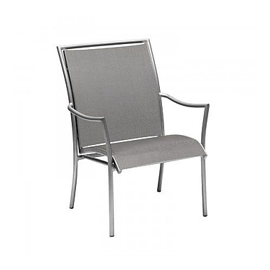 Woodard Dominica Sling Stacking Patio Dining Chair; Sailing Salt