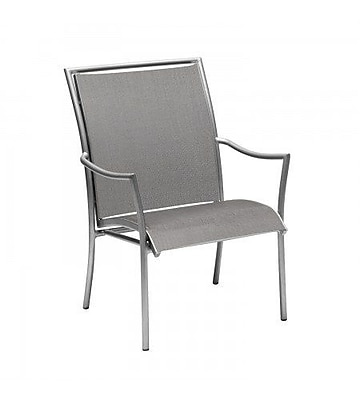 Woodard Dominica Sling Stacking Patio Dining Chair; Augustine Pear