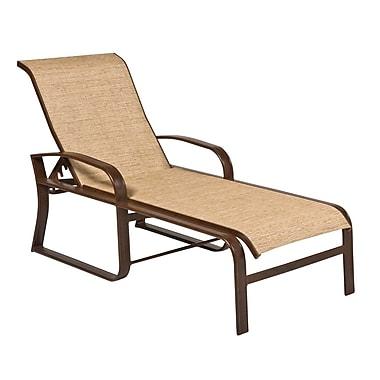 Woodard Cayman Isle Sling Adjustable Chaise Lounge; Augustine Amethyst