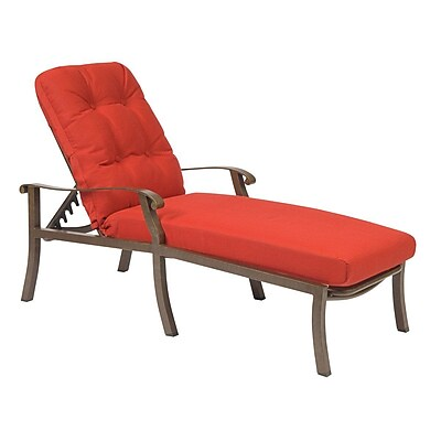 Woodard Cortland Adjustable Chaise Lounge w/ Cushion; Summit Spark