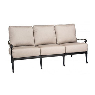 Woodard Wiltshire Sofa w/ Cushions; Paris Honeydew