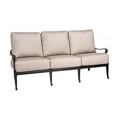 Woodard Wiltshire Sofa w/ Cushions; Canvas Iris