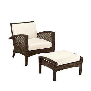 Woodard Trinidad Patio Chair w/ Cushions; Brisa Distressed Dove Gray