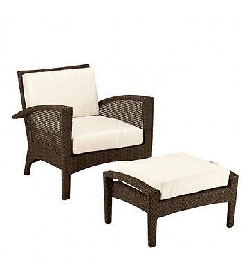 Woodard Trinidad Patio Chair w/ Cushions; Paris Honeydew
