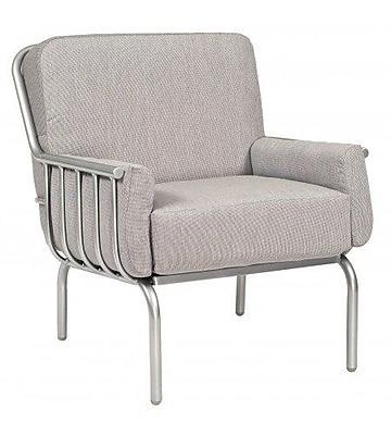 Woodard Uptown Patio Chair w/ Cushions; Brisa Distressed Charcoal