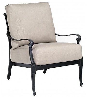 Woodard Wiltshire Stationary Patio Chair w/ Cushions; Bazaar Caf